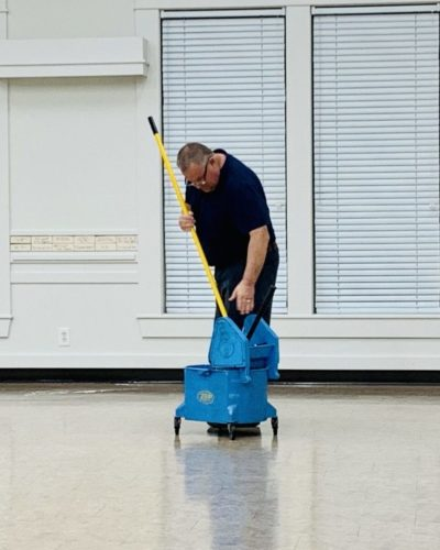 Bill Tarr commercial cleaning event hall.